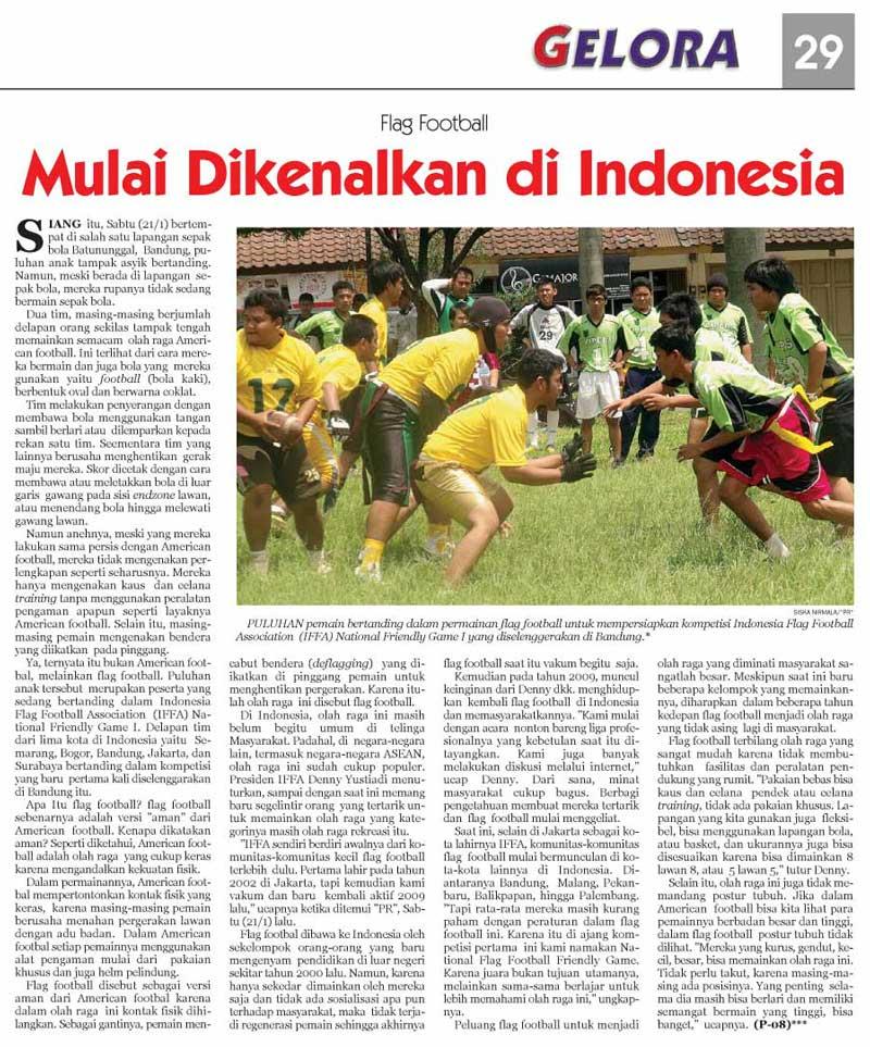 Iffa Nfg On Pikiran Rakyat Flag Football Indonesia